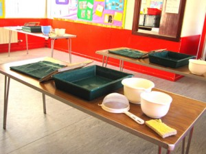papermaking equipment for kids craft class castlerock coleraine