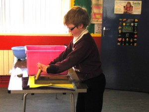 Kids making paper at art and craft classes in Castlerock Coleraine