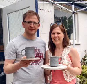 private pottery lessons for couples with Northern Ireland artist McCall Gilfillan